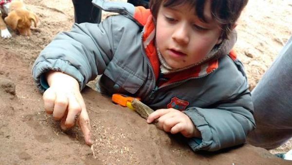 Niño argentino encuentra restos fósiles de unos 500.000 años