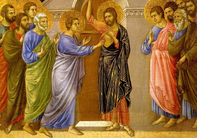 Christ with Thomas in the upper room
