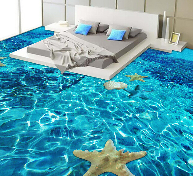 A complete guide to 3d epoxy flooring and 3d floor designs for Beach mural ideas