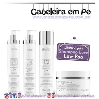 Linha diária Regenerative Care Luxe Creations - Amend (Shampoo, Condicionador, Leave in e Máscara liberados para Low Poo)