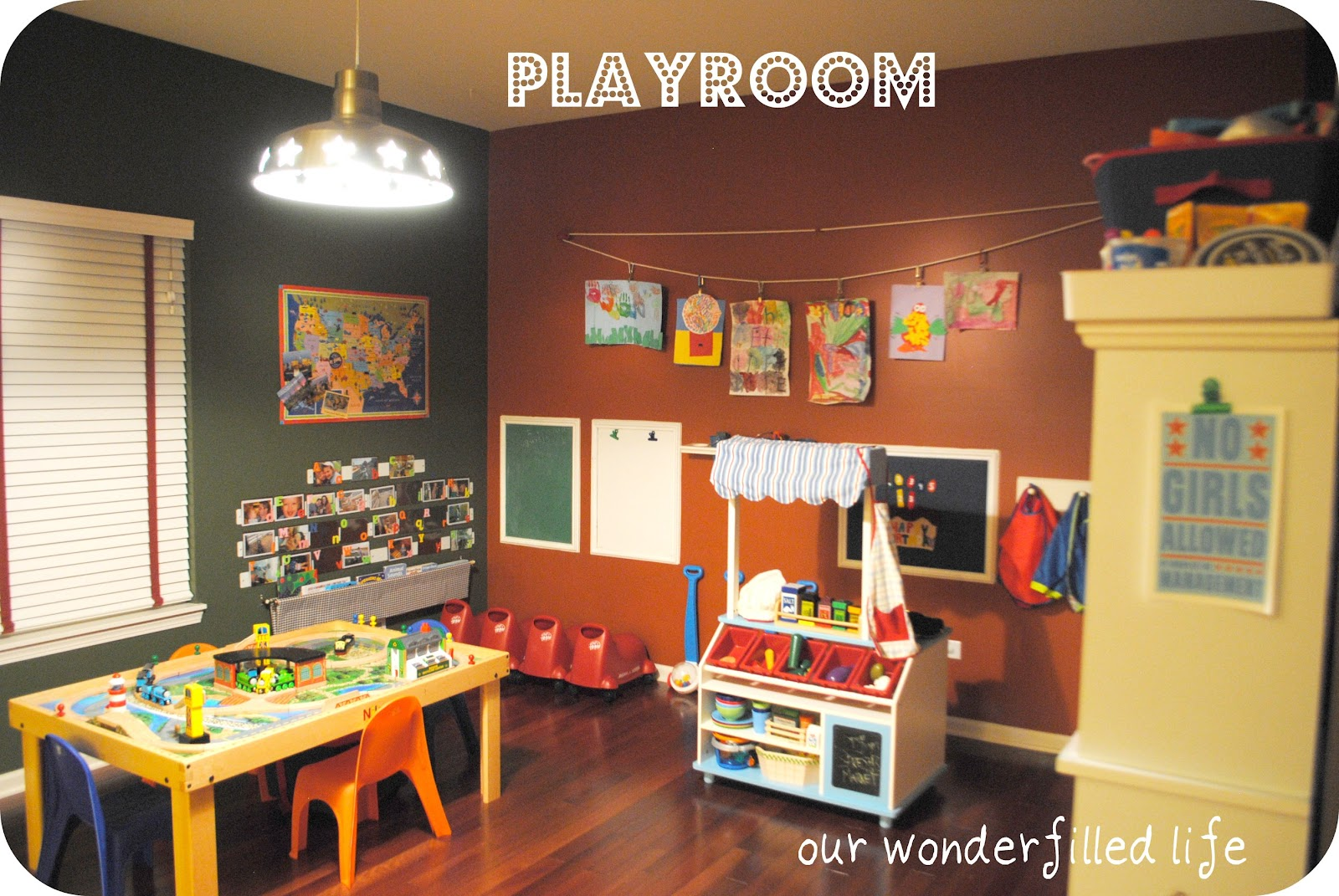 Our Wonderfilled Life: Our Playroom And New Project