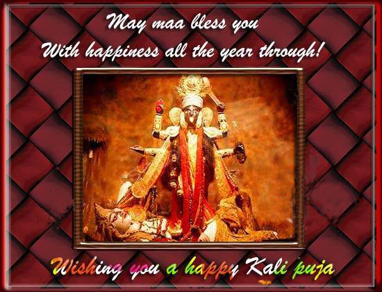 Wishing you a happy kali puja