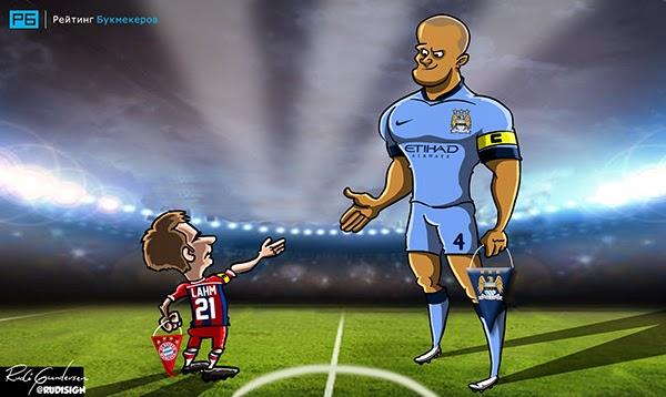 Caricaturas de jugadores de fútbol