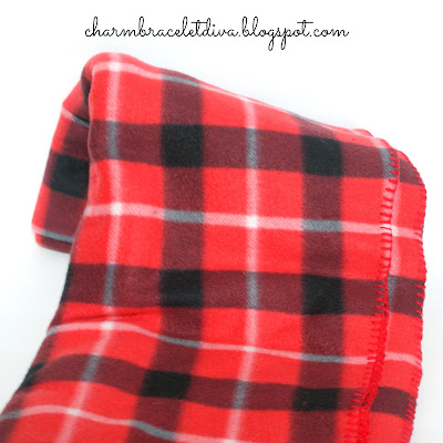 red plaid fleece throw blanket
