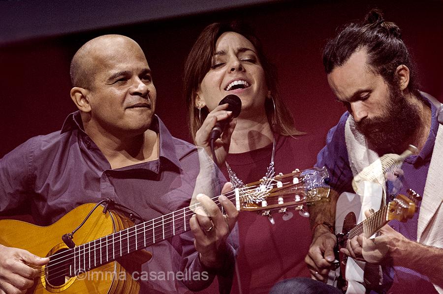 D'esquerra a dreta: Jurandir Santana, Carola Ortiz i Bartolomeo Barenghi, Auditori de Vinseum, Vilafranca del Penedès, 16-set-2017