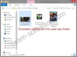 Cara load subtitle step 2