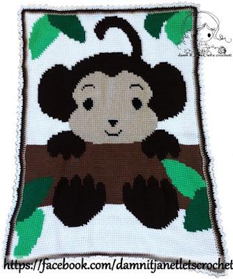 Damn It Janet Lets Crochet Monkey Graphgan In Tunisian Crochet