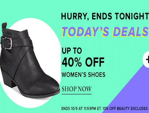 Hudson's Bay Up To 40% Off Women's Shoes + 10% off Beauty