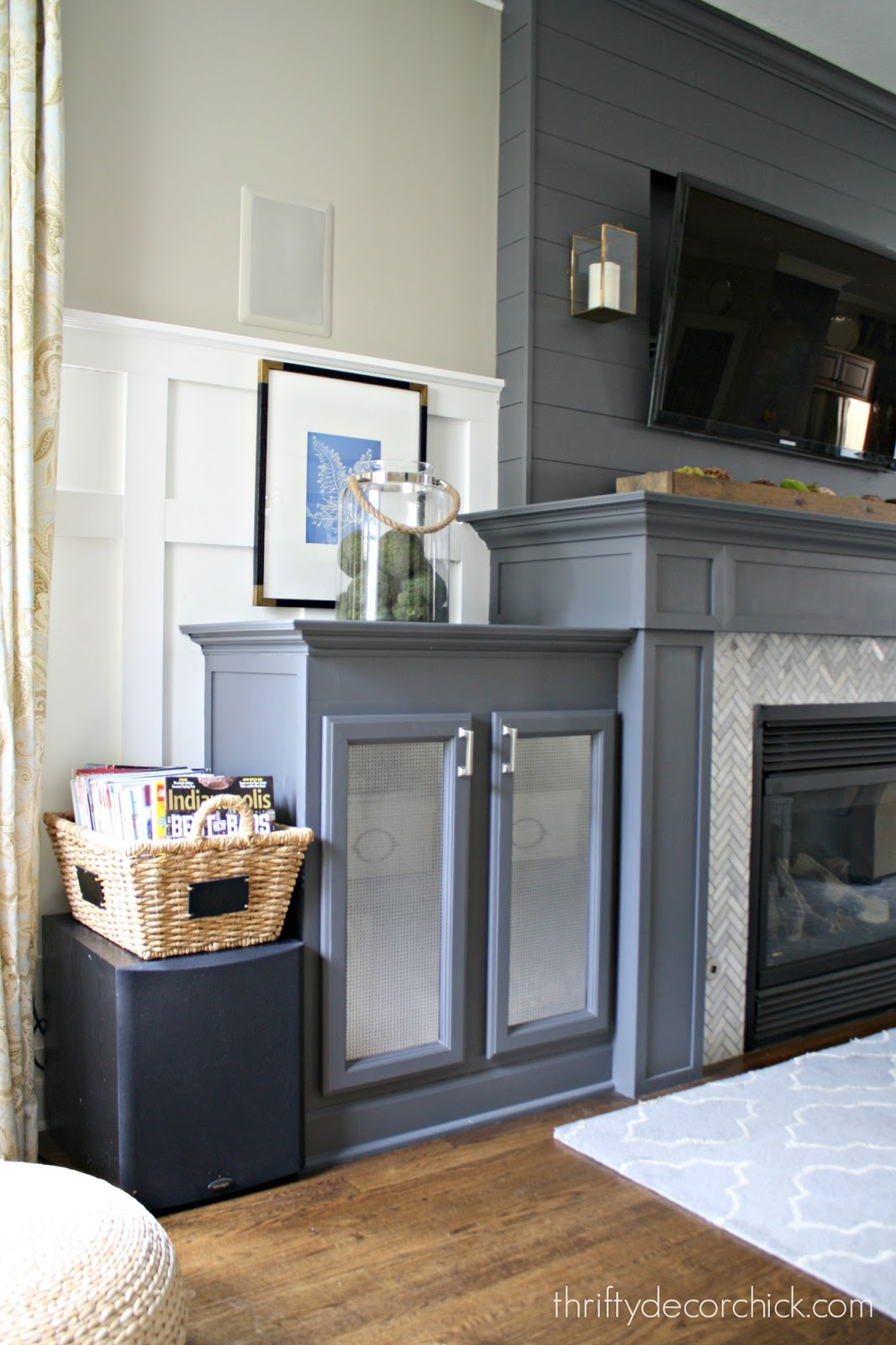 DIY built ins by fireplace