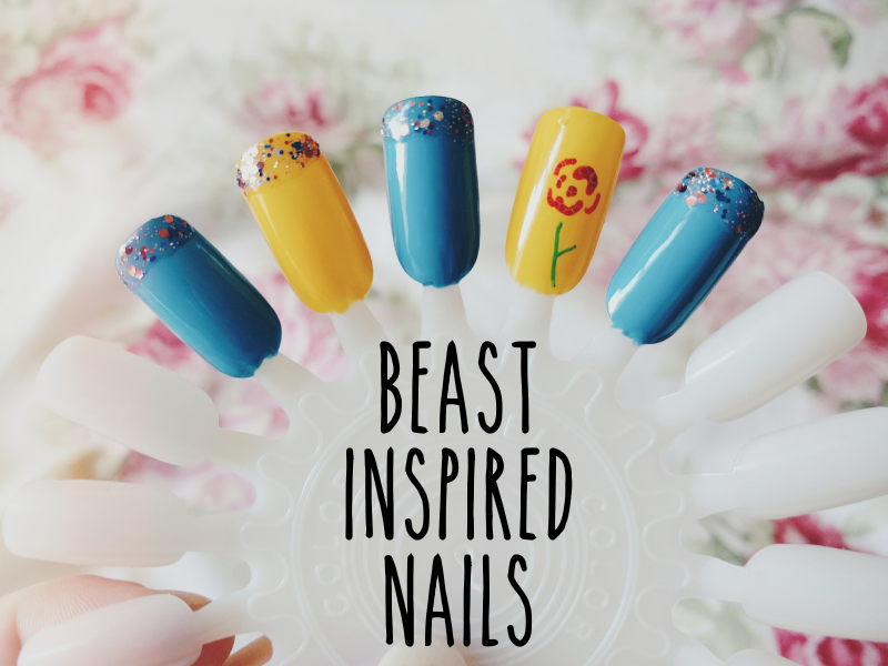 Beast From Beauty and the Beast-Inspired Disney Nails | Courage and ...