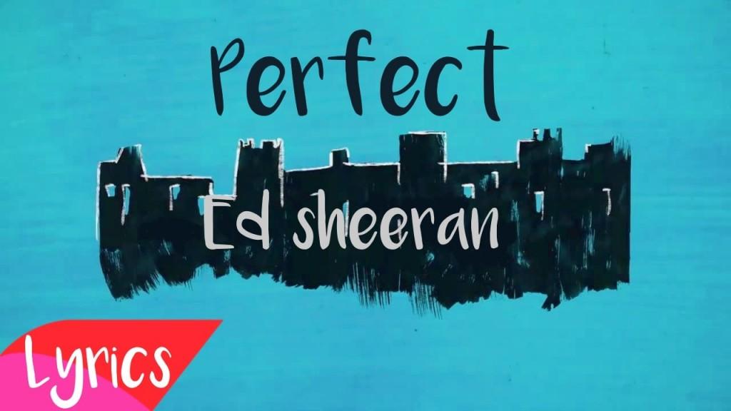Perfect ed sheeran lyrics stopboris Images