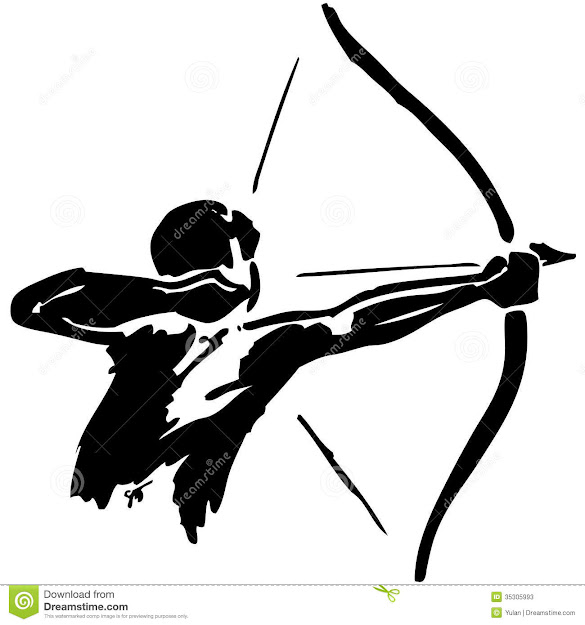 Man Practices Archery Stock Photos