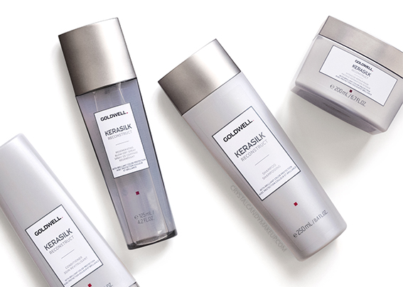 Goldwell Kerasilk Reconstruct Haircare Damaged Fine Shampoo Conditioner Mask Blow-Dry Spray Review Photos Ingredients