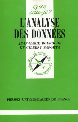 Livre : L'analyse des données - Presses Universitaires De France, Que sais-je?