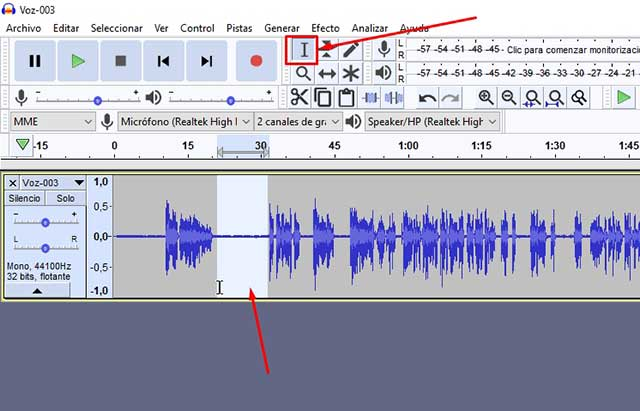 herramienta de selección de ruido