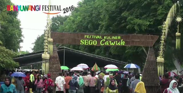 Festival kuliner Sego Cawuk Banyuwangi 2016.