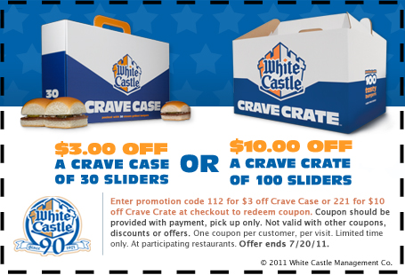 photograph regarding White Castle Printable Coupons named White castle coupon codes 2018 - Cicis pizza discount codes 2018