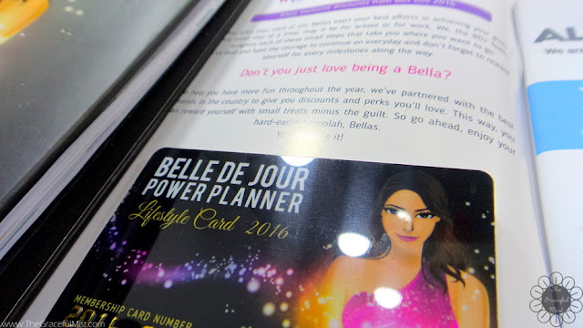 2016 Belle De Jour Power Planner - Lifestyle Card (Review at http://www.TheGracefulMist.com/)