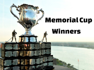ice hockey, Memorial cup,  champions, winners, history, teams, list, by year.