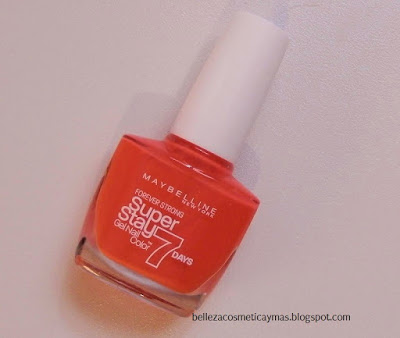 Esmalte Maybelline Superstay 7 Días (tono Orange Couture)