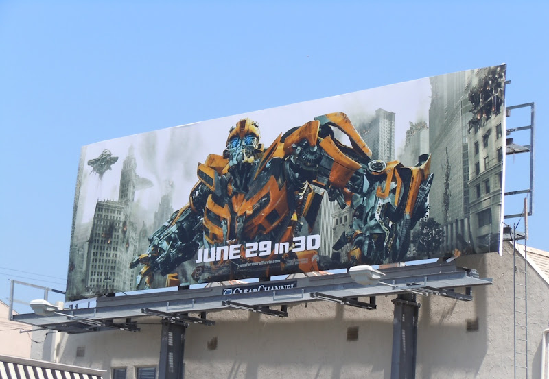 Bumblebee Transformers 3 movie billboard
