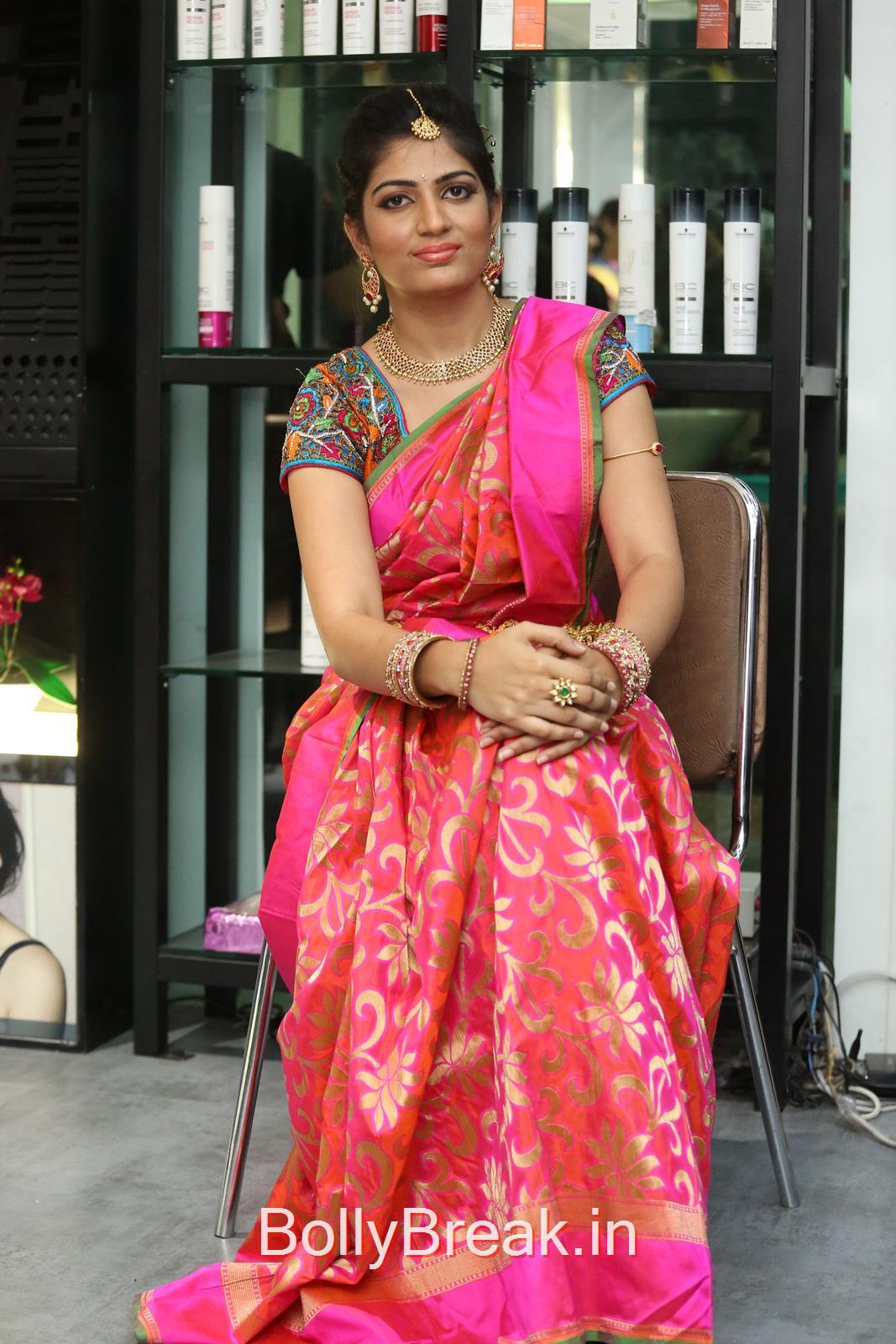 Akanksha Photoshoot Stills, Akanksha Hot Pics from Bridal Dream Make up At Lakme Salon