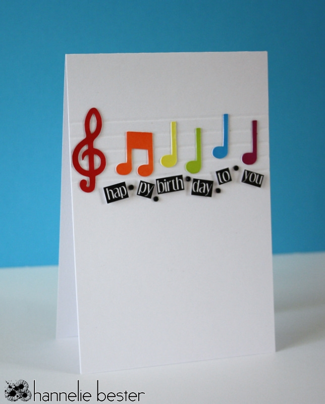 CAS happy birthday card in rainbow colors