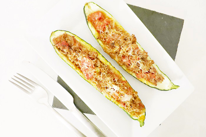 Gefüllte Zucchini mit Le Gruyère AOC überbacken