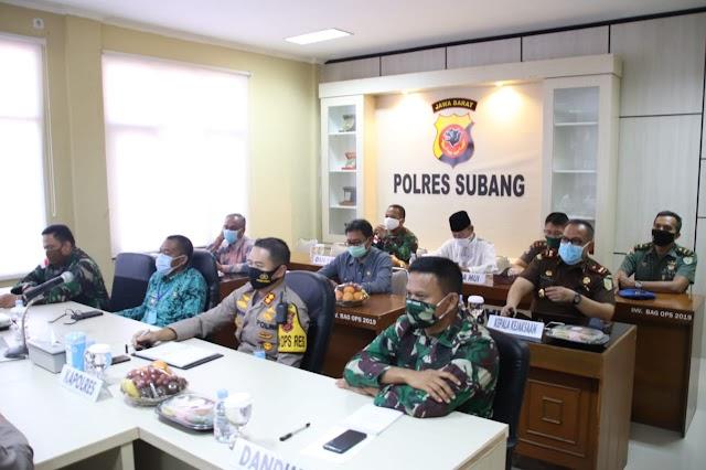 Rakor Lintas Sektoral Operasi Ketupat Lodaya Tahun 2020 dengan Kapolda Jabar