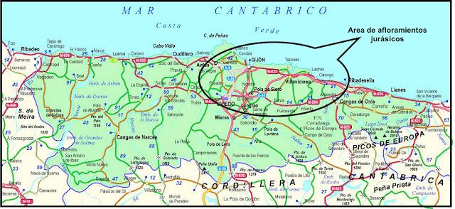 Mapa Costa De Asturias.Mi Geoblog Geologia Y Mas El Jurasico De Asturias