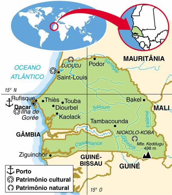 Senegal | Aspectos Geográficos e Socioeconômicos do Senegal