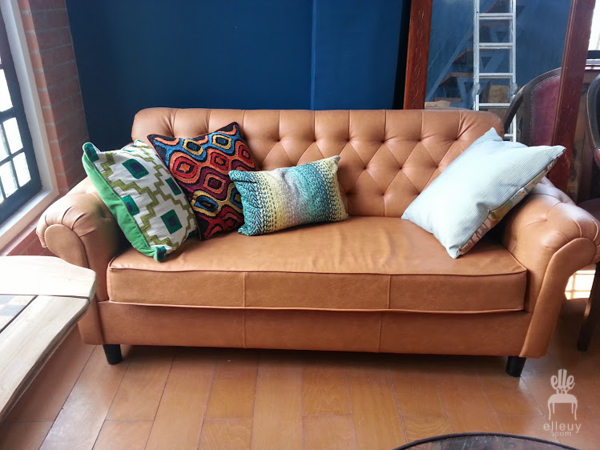 brown cognac sofa, tufted leather sofa