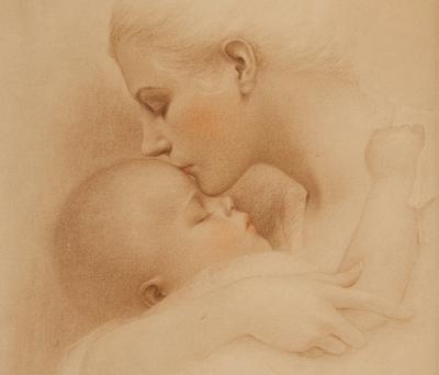 Мать с младенцем. Charles Gates Sheldon (1889-1960)
