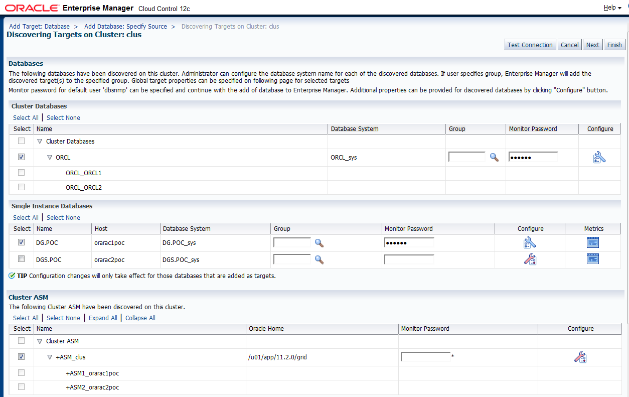 MiDBA: configure EM 12c to monitor physical standby database
