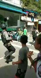 Petugas sedang mengamankan situasi di Sibolga.