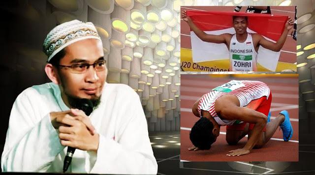 Ustadz Adi Hidayat Hadiah Umroh Muhammad Zohri