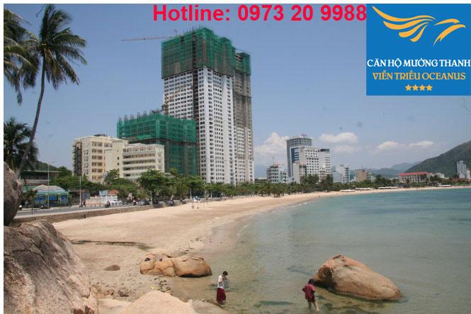 Phối cảnh chung cư Viễn triều Nha Trang góc nhìn từ Biển