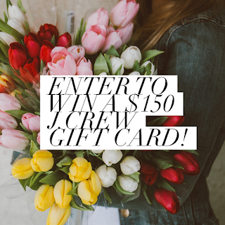 Enter the $150 J.Crew Gift Card Giveaway. Ends 3/31