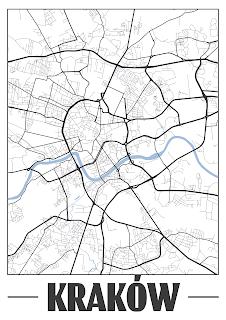 Plakat plan miasta Moskwa