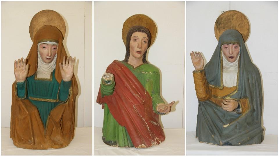 María Salomé, San Juan Evangelista y la Virgen María