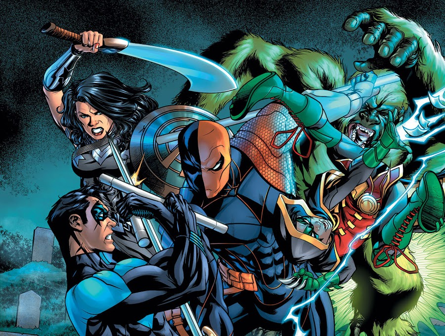 deathstroke vs teen titans