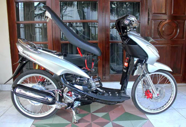 contoh modifikasi motor mio sporty warna putih