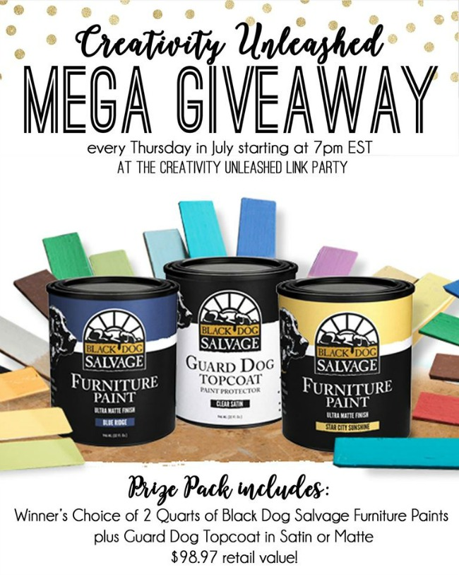 Creativity Unleashed Black Dog Salvage paint giveaway, MyLove2Create