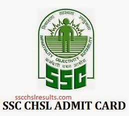 SSC CHSL Admit Card 2016 Download