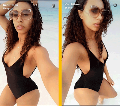 Keri Hilson Exposes Her 34 Year Old Booobs On Snapchat… And Some Are Saying The Booobs Were Saggin'!