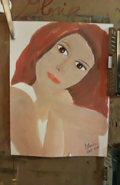 """Redhead, sketch 4"" by Gloria Poole of Missouri ; yr 2010; ethnic series"