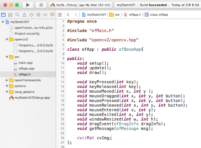 Programming OpenCV, OpenGL, ETC: Using OpenCV3 x in OpenFrameworks0