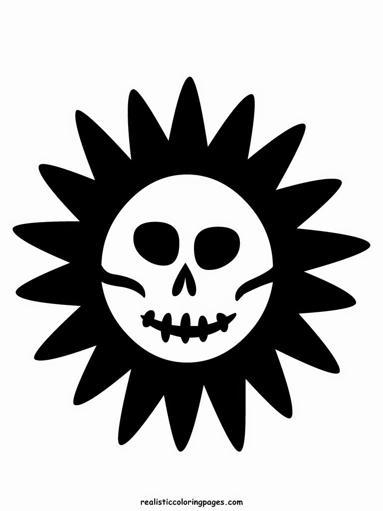 sun for the death halloween printable coloring pages
