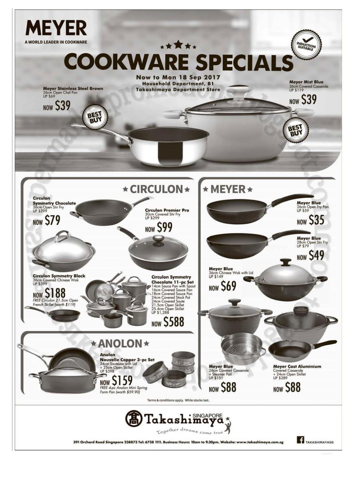 Takashimaya Meyer Cookware Sale 08 18 September 2017