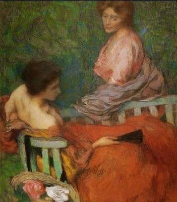 Confidência - Edmond Aman-Jean e suas principais pinturas  ~ Art Nouveau